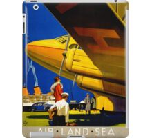 Vintage Travel Poster Restored iPad Case/Skin