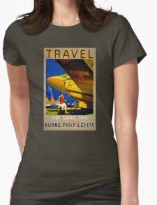Vintage Travel Poster Restored T-Shirt