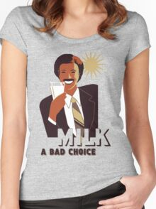 Milk Was A Bad Choice Women's Fitted Scoop T-Shirt