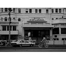 Andi Di Donato passing the Esplanade Hotel Photographic Print