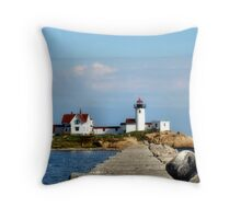 Down the Breakwater Throw Pillow