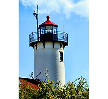Red Roofed Tower Photographic Print