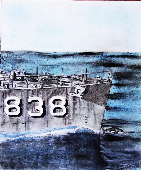 """DDR 838 USS Ernest G Small """"Want to race? by David M Scott"""