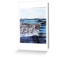 """DDR 838 USS Ernest G Small """"Want to race? Greeting Card"""