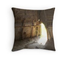 Inside the Home of the Natchez Indians Throw Pillow