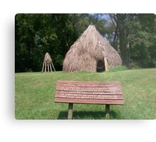 Natchez Indians Home and Granary Metal Print