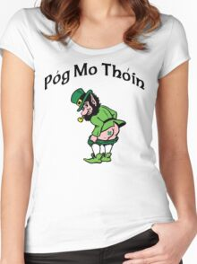 "Irish ""Pog Mo Thoin"" Kiss My A...  Women's Fitted Scoop T-Shirt"