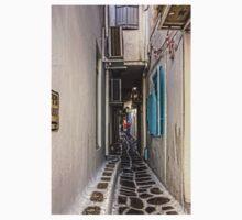 Narrow Lane in Mykonos Kids Tee