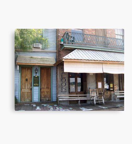 Mark Twain Guest House and Under the Hill Saloon Canvas Print