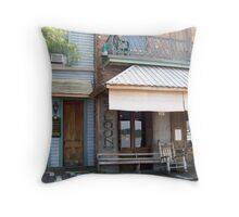 Mark Twain Guest House and Under the Hill Saloon Throw Pillow