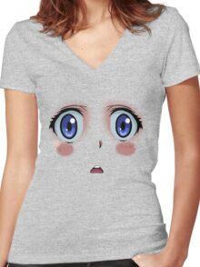 Anime Turmoil! Women's Fitted V-Neck T-Shirt