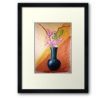 Lillies in a Vase Framed Print