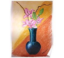 Lillies in a Vase Poster
