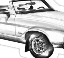 Oldsmobile Cutlass Supreme Muscle Car Illustration Sticker