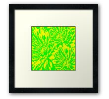 Summertime Floral Abstract Framed Print