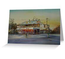 Winton Pub Australian Outback Watercolour Greeting Card