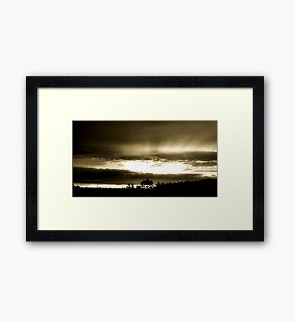 God's Reach Framed Print