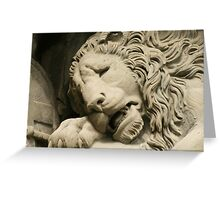 Crying Lion Greeting Card