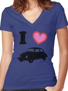 I <3 Beetle Women's Fitted V-Neck T-Shirt