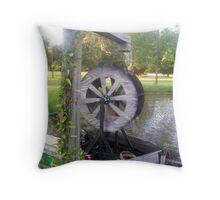 Henry's Waterwheel Throw Pillow