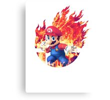 Smash Hype - Mario Canvas Print