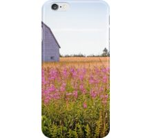 Barn with Flowers (Sandford, N.S.) iPhone Case/Skin
