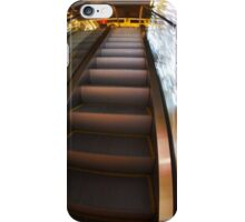 Escalator in the big shopping center in the movement iPhone Case/Skin
