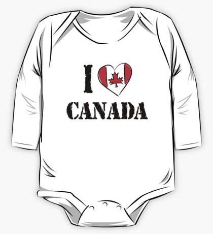 I Love Canada One Piece - Long Sleeve