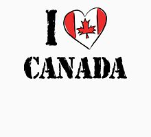 I Love Canada Womens Fitted T-Shirt