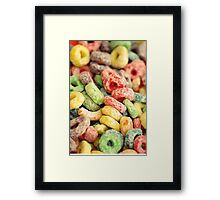 Colourful Fun Abstract Food Art Kitchen Diner Breakfast Cereal Framed Print