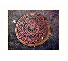 manhole cover Art Print