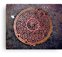 manhole cover Canvas Print