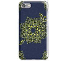Mandala I - navy & gold iPhone Case/Skin