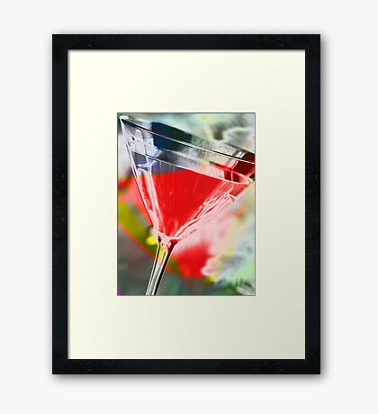 martini red Framed Print