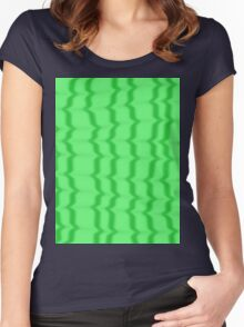 Green Ripples Women's Fitted Scoop T-Shirt