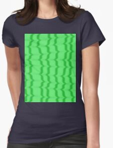 Green Ripples Womens Fitted T-Shirt