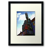 music box movie theater, chicago Framed Print