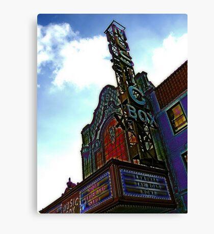 music box movie theater, chicago Canvas Print