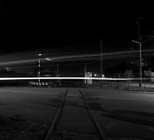 Abandoned Railway crossing by Geoffrey Marsh