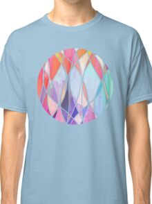 Purple & Peach Love - abstract painting in rainbow pastels Classic T-Shirt