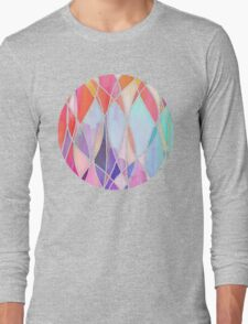 Purple & Peach Love - abstract painting in rainbow pastels Long Sleeve T-Shirt