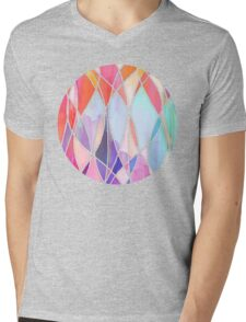 Purple & Peach Love - abstract painting in rainbow pastels Mens V-Neck T-Shirt