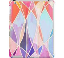 Purple & Peach Love - abstract painting in rainbow pastels iPad Case/Skin