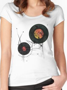 Retro Vinyls  Women's Fitted Scoop T-Shirt