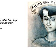 Postcard (1) from Aung Saan Suu Kyi by Edward Nilges