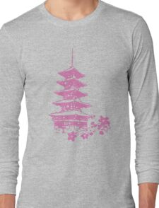 Pink Pagoda Long Sleeve T-Shirt