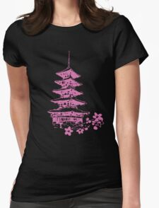 Pink Pagoda Womens Fitted T-Shirt