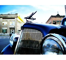 old blue car Photographic Print