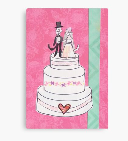 Little Monkey Wedding Canvas Print
