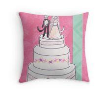 Little Monkey Wedding Throw Pillow
